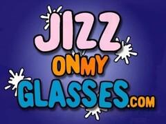 Cum on Glasses Jasmine Tame gets a big facial Thumb