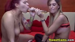 Two sexy lesbian babes eat each other's sweet holes Thumb