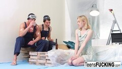 Kinky Hung Rocco Siffredi Stretches Skinny Teen's Ass in Casting Thumb