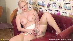 naughty waitress strips uniform lingerie wanks in nylons Thumb