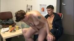 Chubby Short Hair Dutch MILF Gets Serviced Thumb