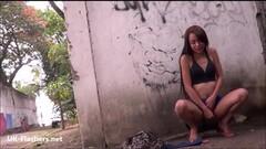 Teen Latina masturbating outdoors Thumb