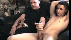 Horny Neo's cock goes vertical as my finger hit his prostate Thumb
