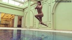 Cute tattooed Czech sexy in the pool Thumb