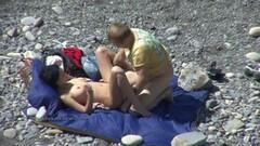Shameless people having sex on the beach Thumb