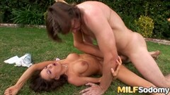 Frisky Brazilian Takes 2 Loads in Mouth After DP Massage Fuck Thumb
