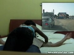 African Hottie Riding Big Dick On Bed Thumb