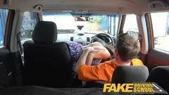Fake Driving School Posh cheating wife babe with great tits Thumb