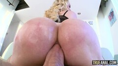 TRUE ANAL Nikki Benz has her asshole licked and pounded Thumb