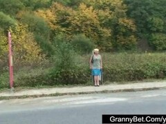 Lonely granny is picked up and fucked by horny guy Thumb