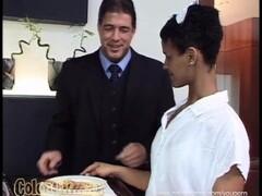 Black Waitress nailed by Customer! Thumb
