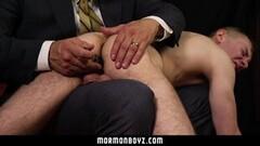 Hot Daddy Spanks Cute Mormon Thumb