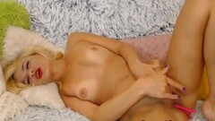 Blonde Babe Plays With Her Pussy With Her Vib Toy Thumb