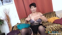 EuropeMaturE Solo Lady Self Stimulation Caught on Cam Thumb