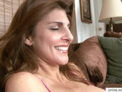 Busty mature explores her body Thumb