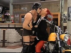 Awesome Redhead on Harley! Thumb