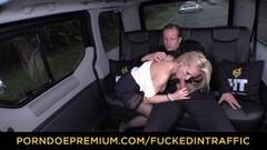 Cute blonde boned in backseat Thumb