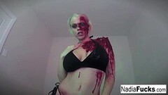 Horny zombie gets her fill of cock and spunk Thumb