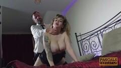 Czech milf sucking cock Thumb