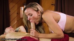 Babe Leya Falcon sucking BBC at gloryhole Thumb