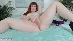 Brunette swallows this hard dick Thumb