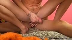 Blonde Takes Huge Cock Deep In Her Throat Thumb