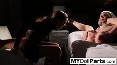 Frisky Kayla Jane Makes Her Employee Marica Worship Her Feet! Thumb
