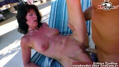 Frisky German Mature Housewife Fuck Outdoor in Holiday Thumb