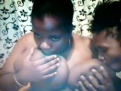 Two hot ebony bisexual chicks sucking for milk Thumb