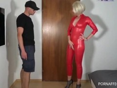 German blonde milf in red latex Thumb