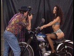 Motorcycle photoshoot turns into a hot foursome. (Clip) Thumb