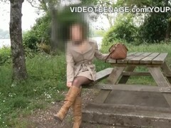 Hot Blonde Has Her Hands Full Thumb