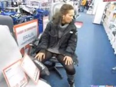 Crazy German Girl Pisses In A Store Thumb
