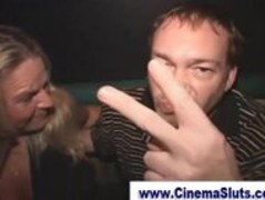 Amateur blowjob in a porn cinema Thumb