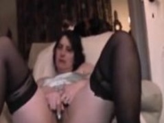 French Milf and Secretary cums with spread legs Thumb