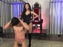 Sexy Cruel Asian Ballbusting Thumb