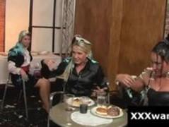 Slutty hot women having food fight at european restaurant Thumb
