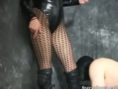 Mistress humiliates slave and whips his ass and balls Thumb