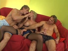 Big titted MILF gets fucked by two studs - Pandemonium Thumb