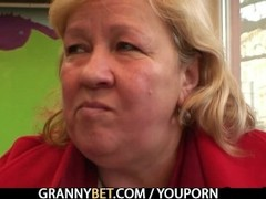 Cock hungry grandma is pounded Thumb