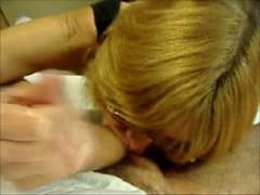 Mature Blond Deep Throats a Big Cock Thumb