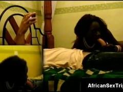 Ebony cock goddess shows off her amazing dick sucking skills Thumb