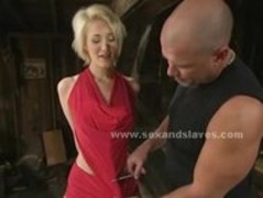 Blonde sex slave made to fuck in rough bondage sex in extreme v Thumb