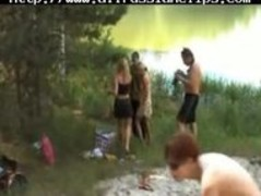 Group Sex On The Shores Of A Lake russian cumshots swallow Thumb