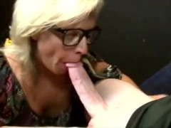 Hot hungry milf wearing glasses sucks cock Thumb