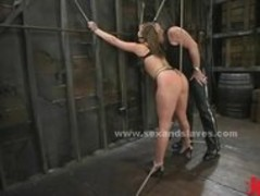 Sex slave bound and immobilized spanking and pussy ass fucking in Thumb