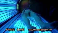 Blonde Teen in Public Tanning Salon with Reallifecam filmed.Real Hidden Webcam under tanning Bed Thumb