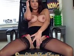 Dirty talking office slut wants to suck big dick and have cum on her tits Thumb