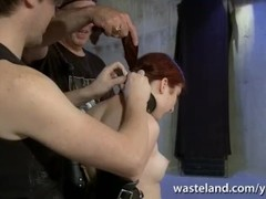 Two Dorks With Dicks Give Training Session With Blowjob To Redheaded Sub Thumb