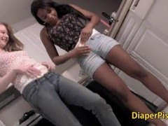 Teen girls in diaper kissing eachother Thumb